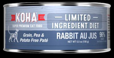 KOHA CAT RABBIT PATE 5.5oz