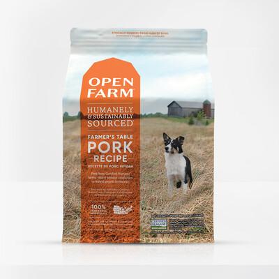 OPEN FARM DOG GF PORK 24#