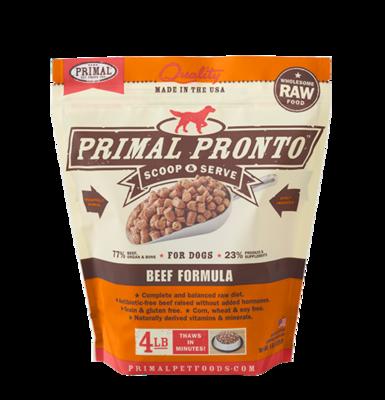PRIMAL RAW PRONTO BEEF 4#