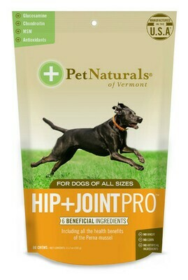 PET NAT HIP & JOINT MAX CHEW 60CT