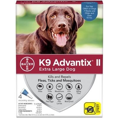 ADVANTIX DOG XL +55# 4pk