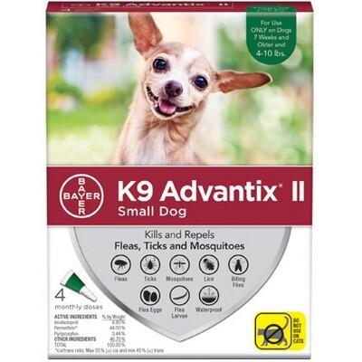 ADVANTIX DOG SM 4-10# 4pk