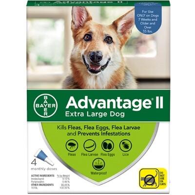 ADVANTAGE DOG XL +55# 4pk