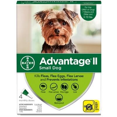 ADVANTAGE DOG SM 3-10# 4pk