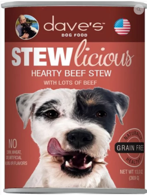 DAVES STEW HEARTY BEEF 13oz
