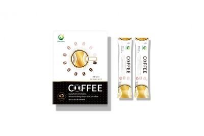 Ароматный черный кофе с экстрактом бобов белой фасоли