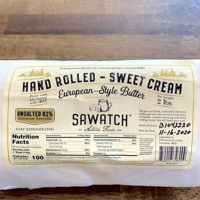 Sawatch Artisan Butter (Unsalted)