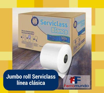 Jumbo roll papel higiénico (caja 6 unidades)