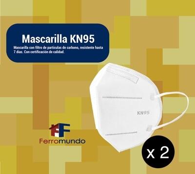 Mascarilla KN95 - par (2 unidades)