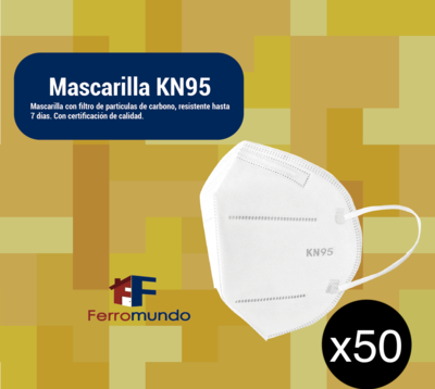 Mascarilla KN95 - paquete 50 unidades