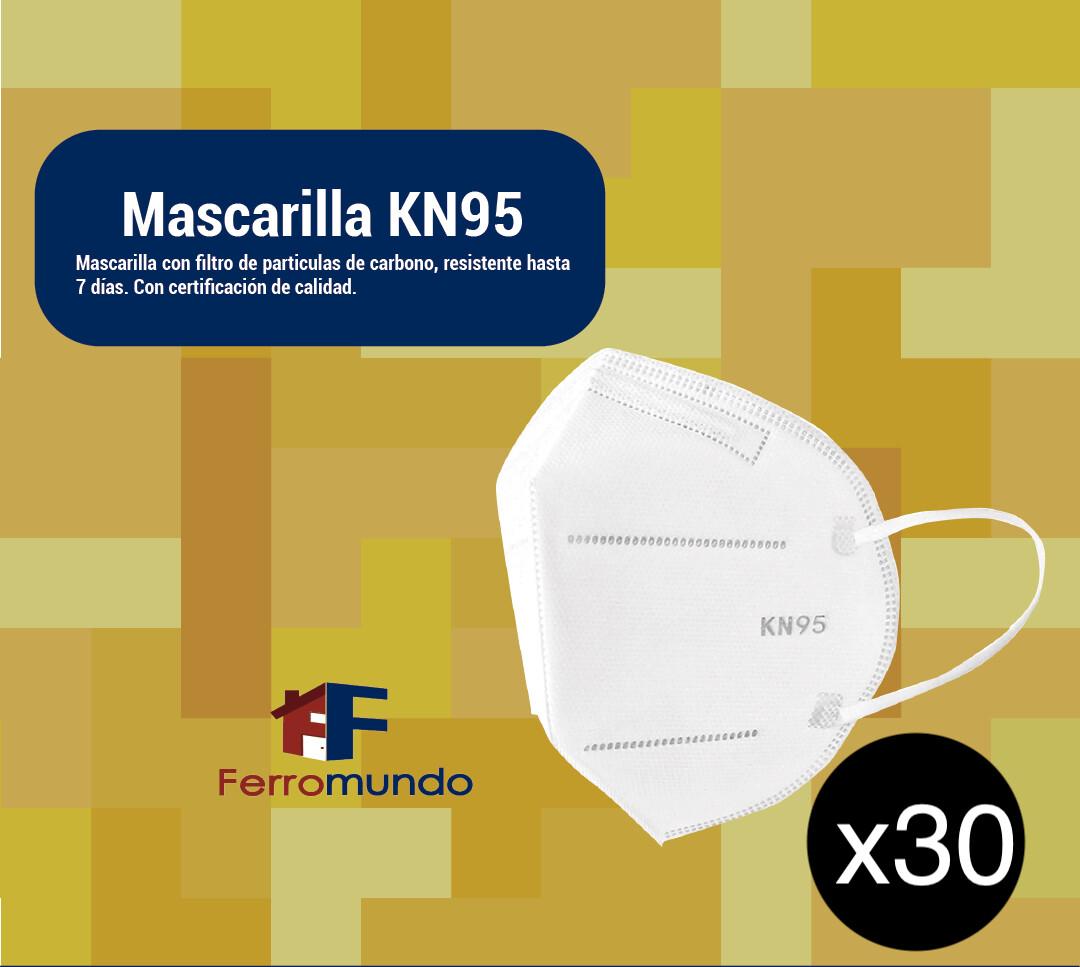 Mascarilla KN95 - paquete 30 unidades