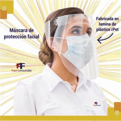 Careta protección facial - paquete 3 unidades
