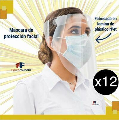 Careta de protección facial - 12 unidades