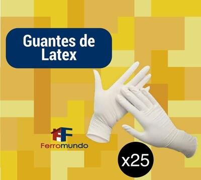 Guante de latex - paquete 25 pares