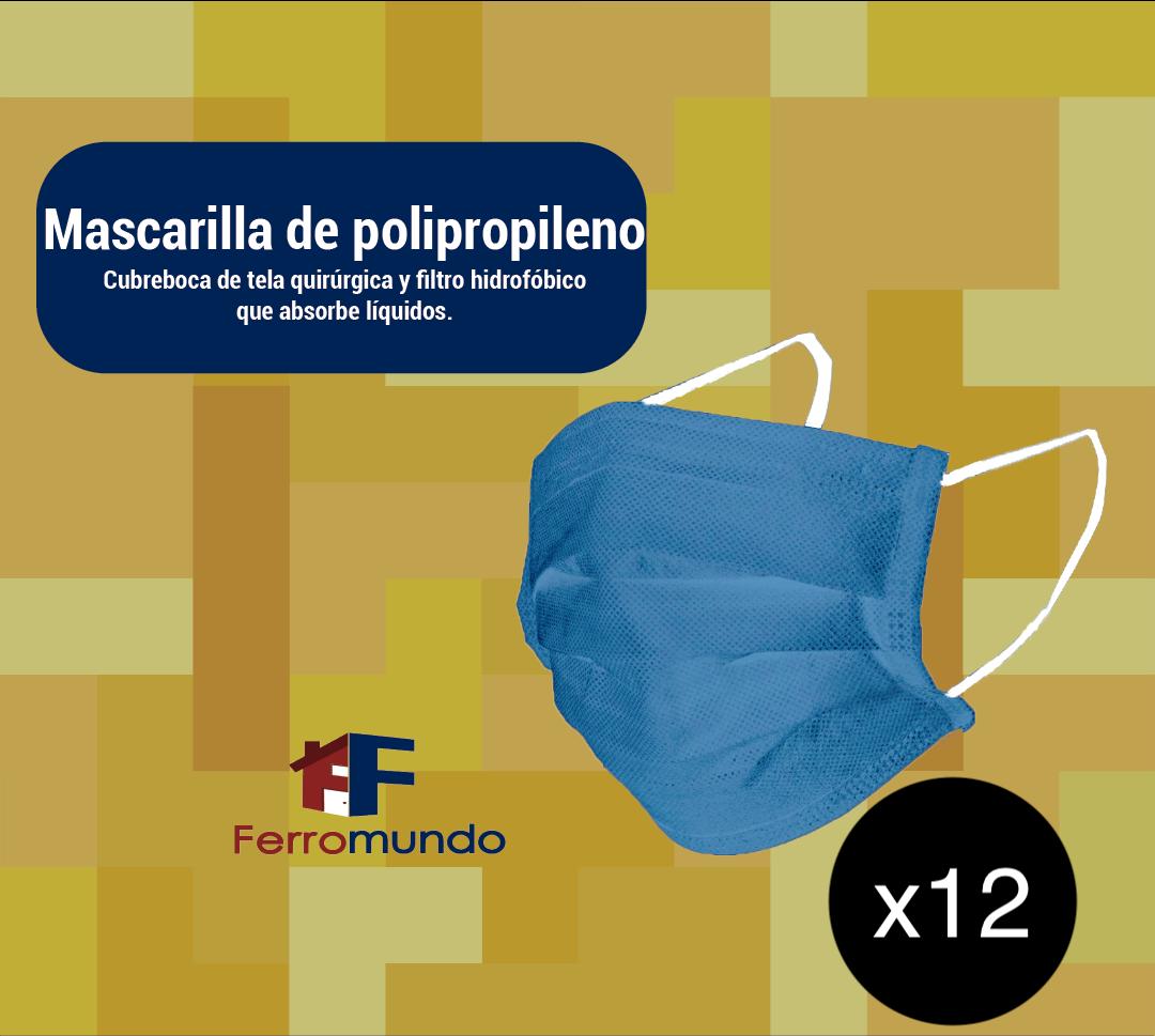 Mascarilla polipropileno - 12 unidades