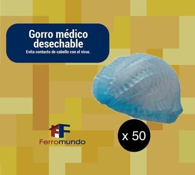 Gorros quirúrgico desechable - paquete 50 unidades