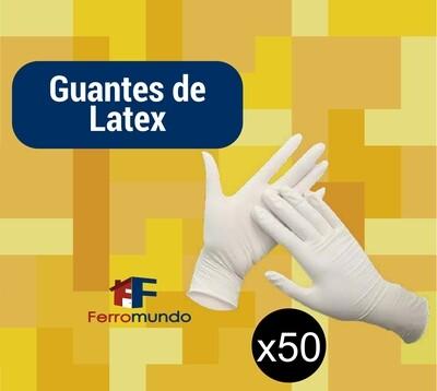 Guante de latex - paquete 50  pares