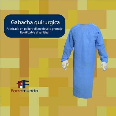 Gabacha quirúrgica reutilizable