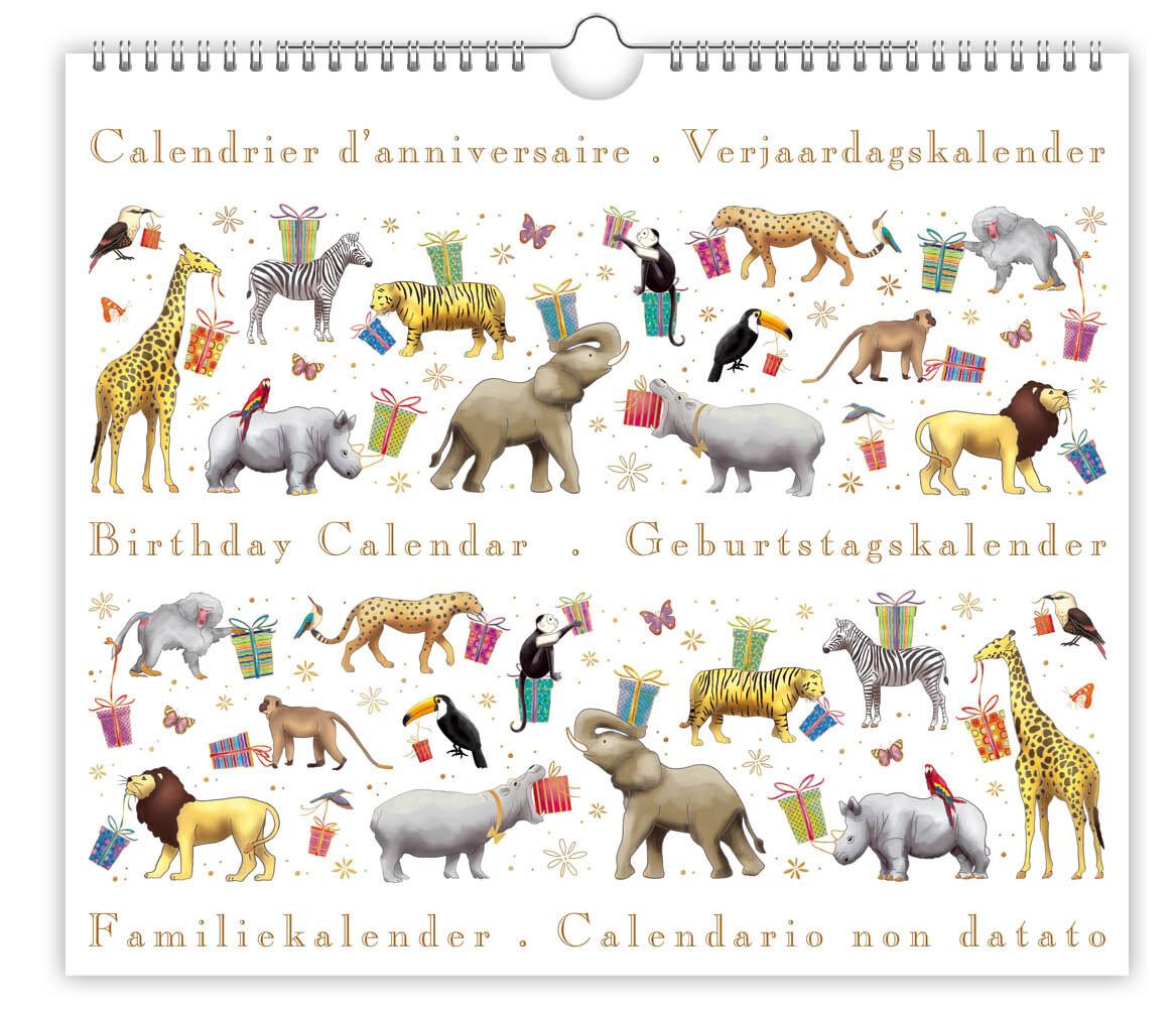 CALENDRIER D'ANNIVERSAIRE ANIMAUX
