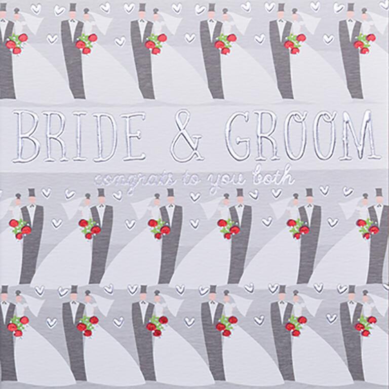 """CARTE DE VŒUX """"BRIDE & GROOM"""""""