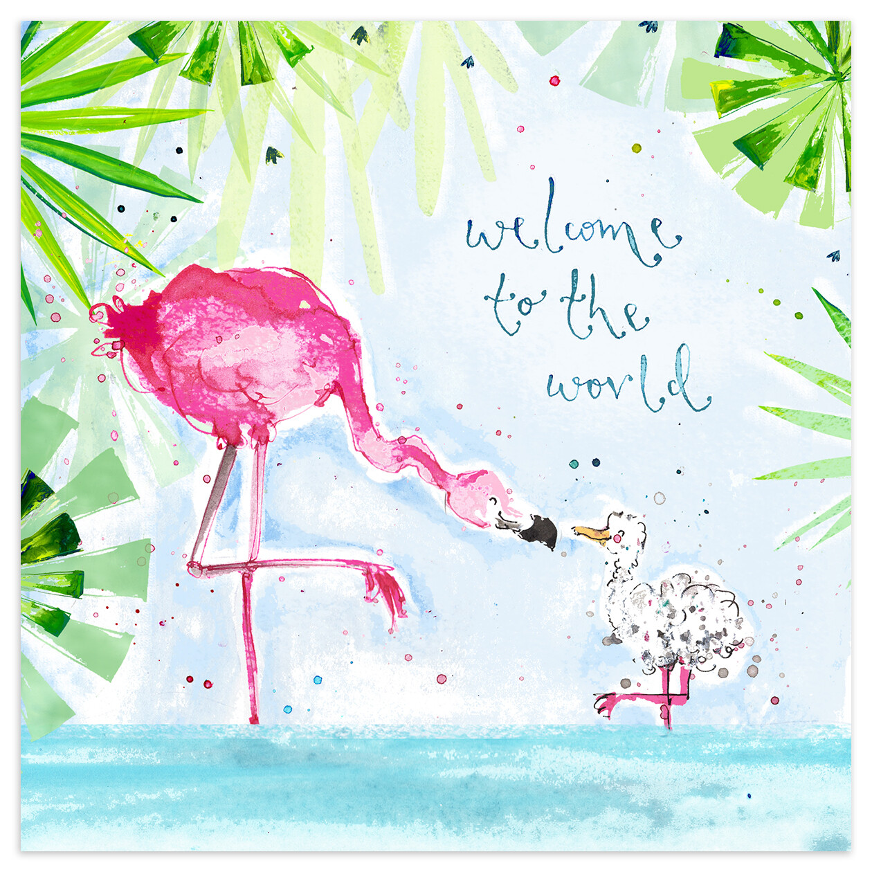 """CARTE DE VŒUX """"WELCOME TO THE WORLD"""""""