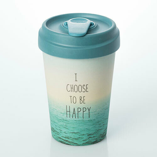 "BAMBOO CUP ""CHOOSE HAPPY"""