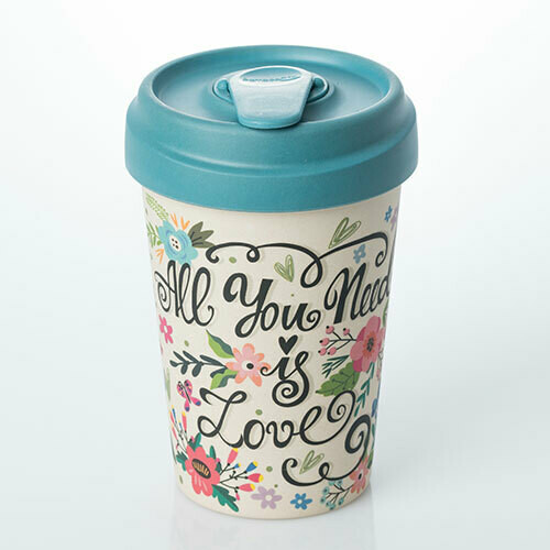 """BAMBOO CUP """"ALL YOU NEED IS LOVE"""""""
