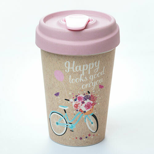 "BAMBOO CUP ""HAPPY LOOKS GOOD"""