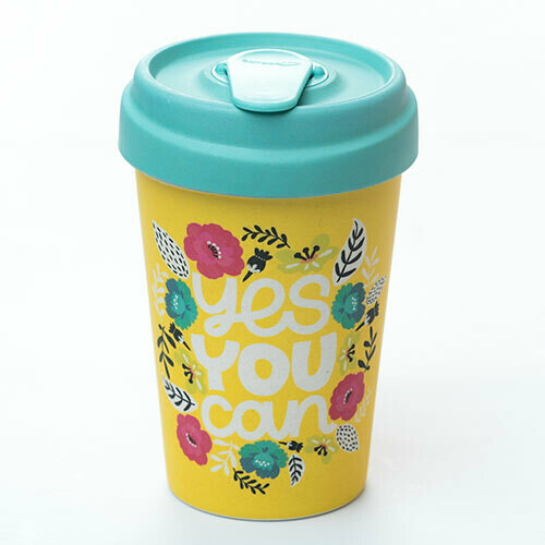 """BAMBOO CUP """"YES YOU CAN"""""""
