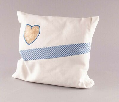 Zirbenkissen blaues Herz