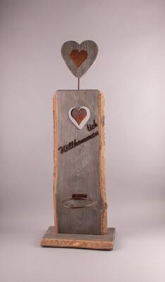 Herz-Stehle antik, für Topf