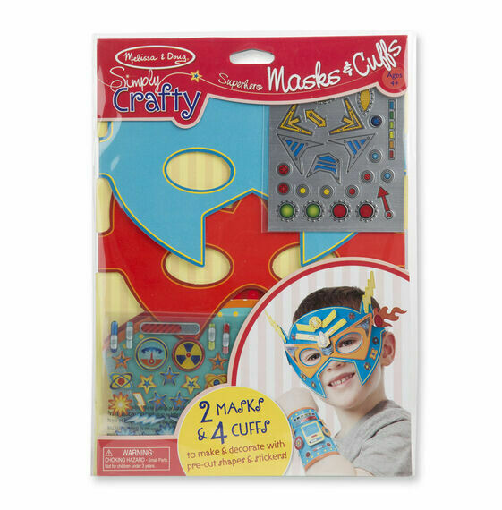 9477-ME SIMPLY CRAFTY - SUPERHERO MASKS & CUFFS