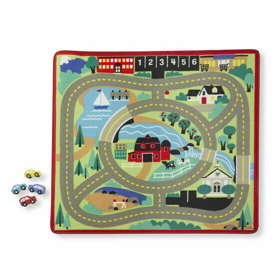 9400-ME Round the Town Road Rug  VERDE