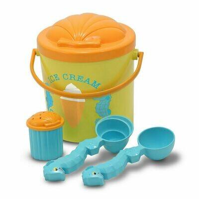 6433-ME Speck Seahorse Sand Ice Cream Set