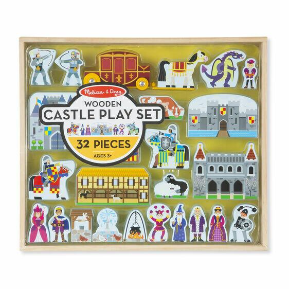 979-ME Wooden Castle Play Set