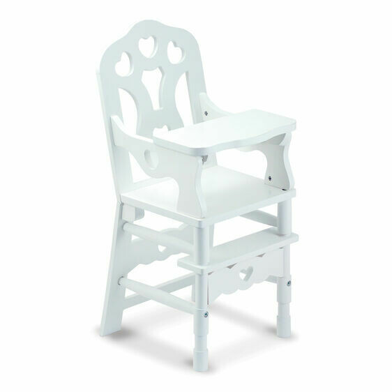 9382-ME Wooden Doll High Chair