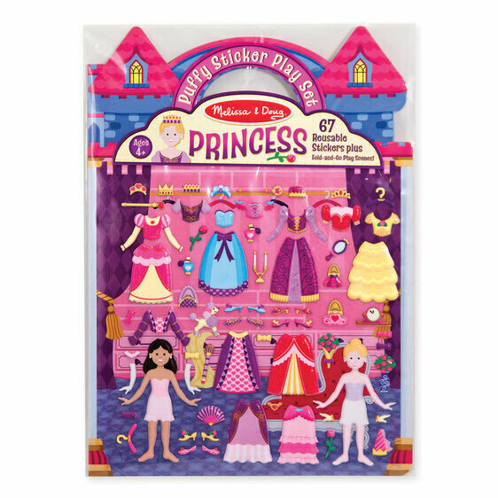 9100-ME Puffy Stickers - Princess