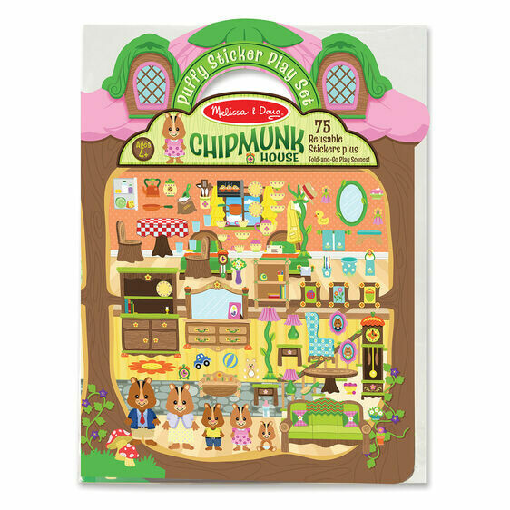 9101-ME Puffy Stickers - Chipmunk House