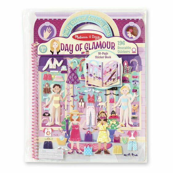 9412-ME Deluxe Puffy Stickers Book-Day of Glamour