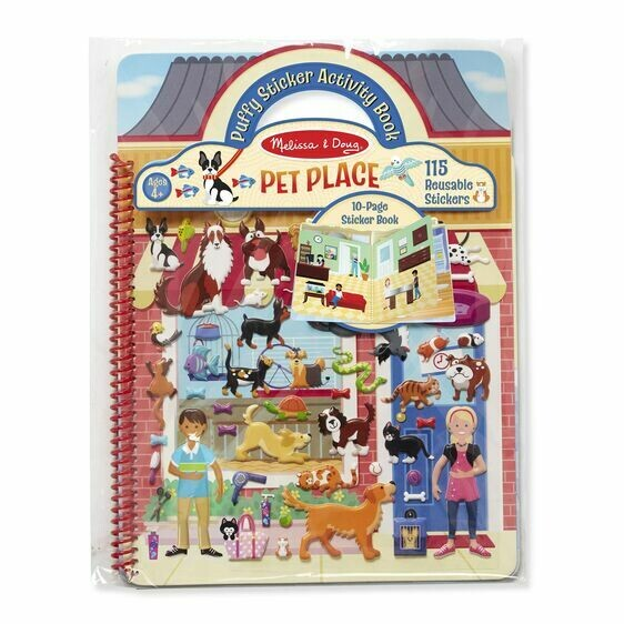 9429-ME Puffy Stickers Book - Pet Place