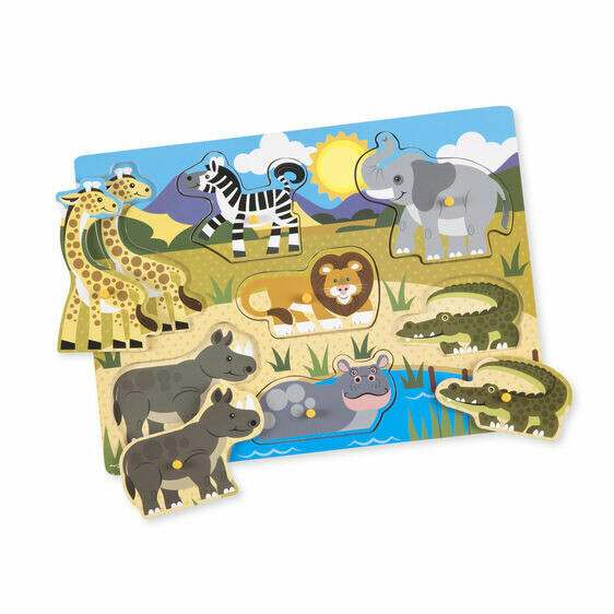 9054-ME Safari Peg Puzzle