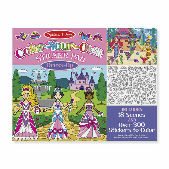 9469-ME Color your own stickers pads Dress Up
