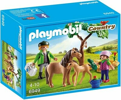 VETERINARIO C/PONIS PLAYMOBIL
