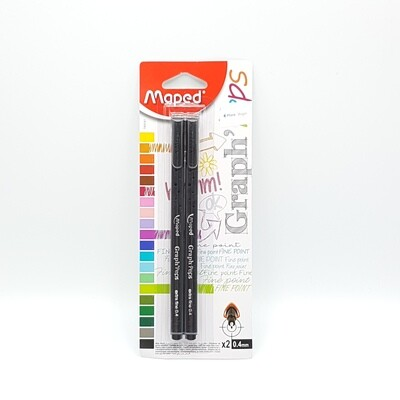 MARCADOR X2 P.FINA 0.4MM NEGRO MAPED