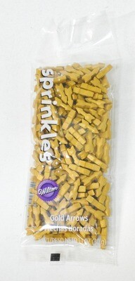 SPRINKLES ARROWS GOLD POUCH WILTON