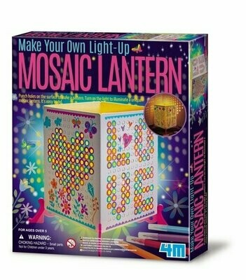 Make Your Own Light-up Mosaic Lantern 4M