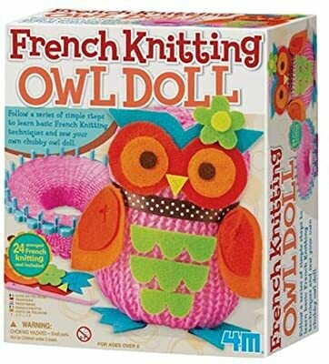 French Knitting Owl Doll