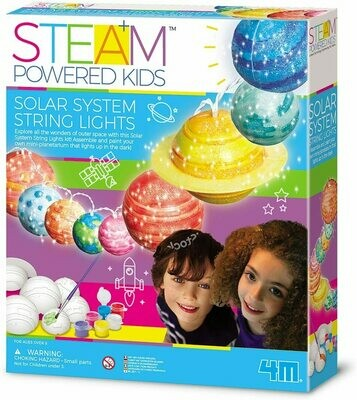 SOLAR SYSTEM STRING LIGHTS GIRL STEAM 4M