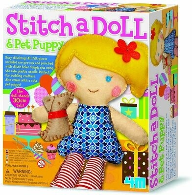 Stitch a Doll & Pet Puppy 4M
