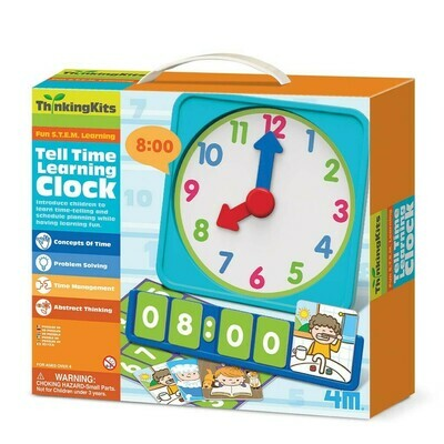 THINKING KITS / TELL TIME LEARNING CLOCK 4M